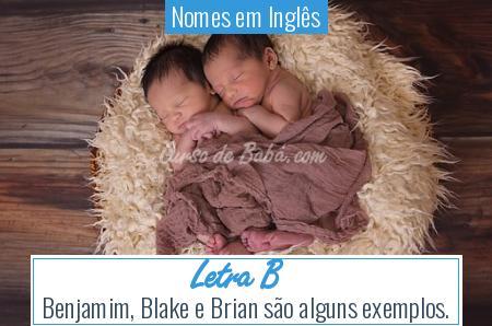Nomes em Inglês - Letra B